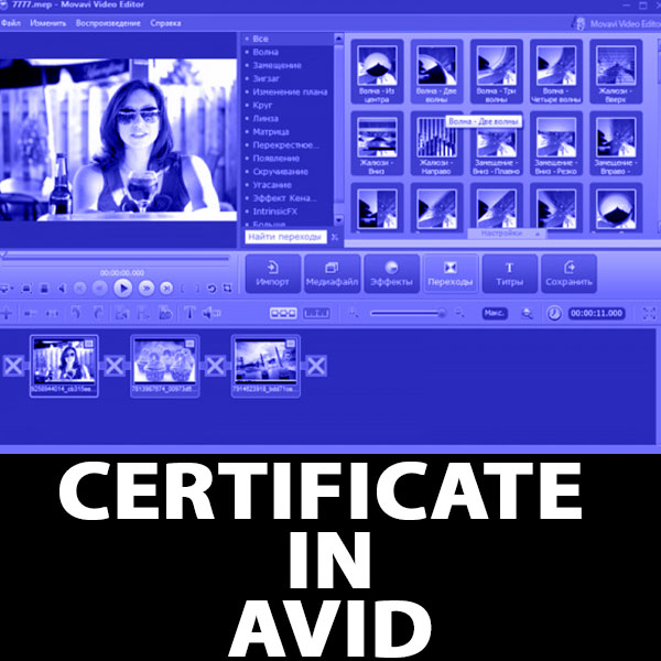 Certificate in Avid Editing